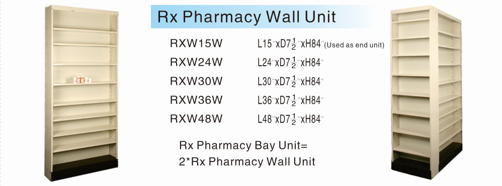Rx Pharmacy Wall Unit